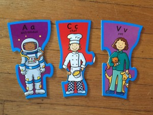 Individual career job people pieces from Infantino When I Grow Up puzzle