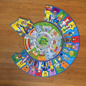Inner ring and partial outer ring of Infantino When I Grow Up alphetical careers puzzle completed