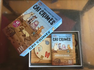 Cat Crimes game packed into box