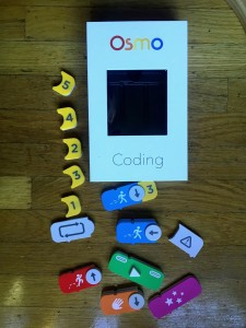 Osmo coding box kit with coding tiles