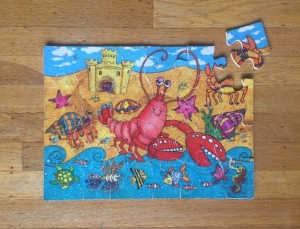 Ceaco fuzzy puzzle under the sea theme assembled