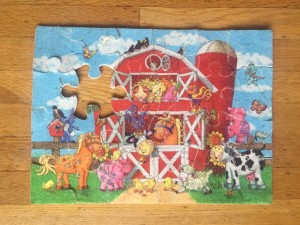 Farm theme fuzzy kids puzzle from Ceaco