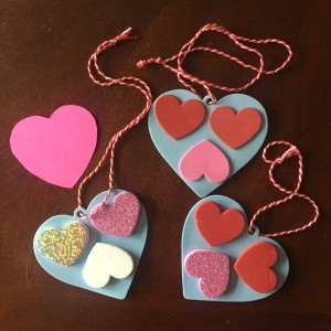 Kid made valentines heart shaped crafts easy