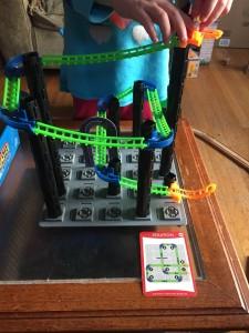 Solved logic puzzle Roller Coaster Challenge game for kids
