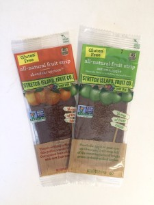 Old packaging of Stretch Island fruit leather gluten free no sugar added vegan