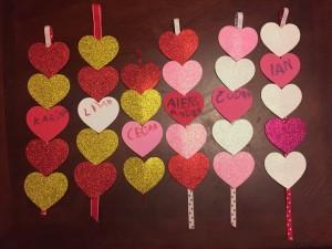 Heart strands valentines kids homemade craft ideas