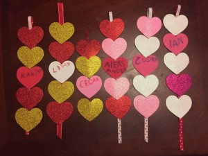 Heart strands valentines kids homemade craft ideas