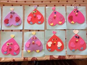 heart chicken valentines homemade child