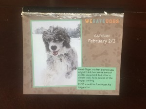 We Rate Dogs calendar Jager dog photo and caption