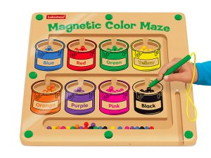 Lakeshore Learning Magnetic Color Maze with magnet pencil and colored paint pots