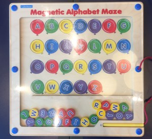 Lakeshore Learning alphabet maze puzzle for young kids toddlers preschoolers