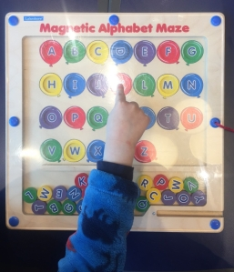 Lakeshore Learning Magnetic Alphabet Maze colored balloons match to letters