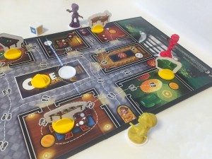 Clue Junior board set up to play