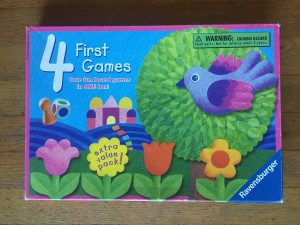 Four First Games box from Ravensburger kid games