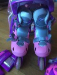Chicago girls inline skates roller blades combo set adjustable kids pink and purple