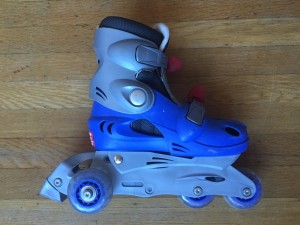 Roller blades inline skates blue and gray boys kids adjustable combo set Chicago