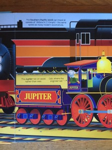 Close up of fold out page from Usborne Big Book of Big Trains picture books for kids