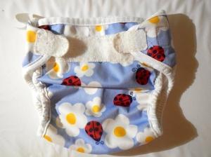 Bummis super whisper wrap cloth diaper cover with ladybug print