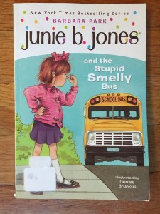 Junie B. Jones and the Stupid Smelly Bus chapter books for kids by Barbara Park