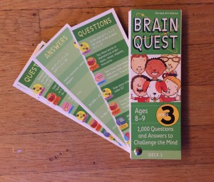 Brain Quest for kids questions and answers deck Grade 3 for ages 8-9