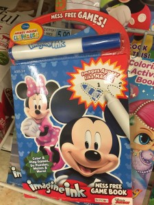 Mickey Mouse Imagine Ink mess free game book with single marker included to revel colors and games