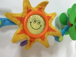 Tiny Love Stroller infant toy arch yellow crinkly sunshine