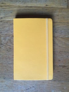 Yellow moleskin journal for kids to write in on Mother's Day
