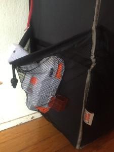 Antsy Pants mesh pocket side of tall toy organizer storage