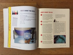 Homemade ice cream instructions from Dad's Book of Awesome Projects family friendly activities book