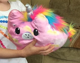 Pimki Pops Jelly Dreams Light Up Unicorn pink stuffed animal glows