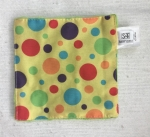S & T brand Baby crinkle square toy soft fabric bright patterns for infants