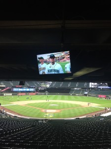 T-Mobile Park in Seattle at night