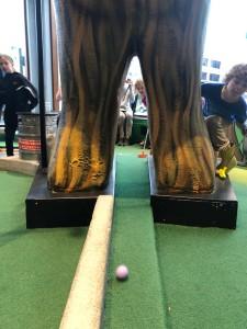 Flatstick Pub Bigfoot hazard on mini golf course