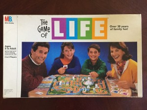 Game of Life old school classic board game in vintage box