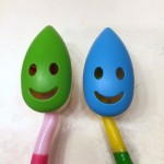Excelity Smiley Face Toothbrush cover cap with suction cup and flip lid top