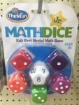 Math Dice Junior mental math dice game for kids by ThinkFun