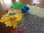 Plus Plus creative building open play construction pieces flat and 3D connected