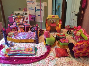 Manhattan Toys Groovy Girls accessories bed sleeping bag sofa chair cafe desk and dressing table