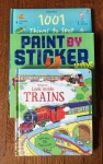 Usborne's 1001 Things to Spot Under the Sea, Paint by Sticker Kids zoo activity book, Usborne Look inside trains flap book for older kids