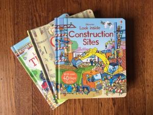 Look inside flap books for older kids from Usborne construction sites trains castles