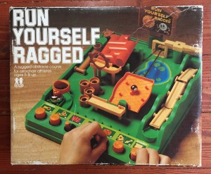 Run Yourself Ragged marble challenge obstacle course game in box