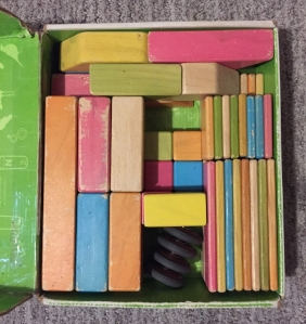 Tegu tints magnetic wooden blocks stored in original box