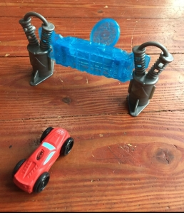 Nerf Flash Fury Chaos foam car stunt with pop up target