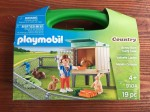 Playmobil Carry Case Playset Bunny Barn country series line toys in carrying case