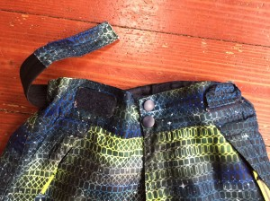 Champion snow pants with adjustable elastic waist