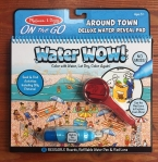 Water Wow! Deluxe on the go Around Town water reveal activity book pad with red lens Melissa and Doug