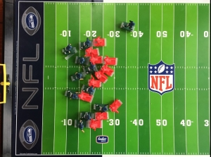 After the play field overview from NFL Electric Football game by Tudor Games
