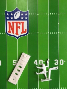NFL Electric Football triple threat quarterback and tiny felt footballs
