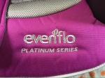 Evenflo Evolve Platinum series pink purple combination booster seat