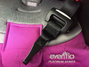 LATCH connector on Evenflo Evolve Platinum combination booster seat